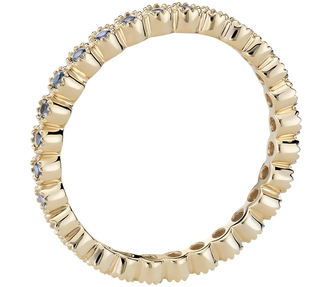 Sapphire Eternity Ring In 18k Yellow Gold Tanary Jewelry