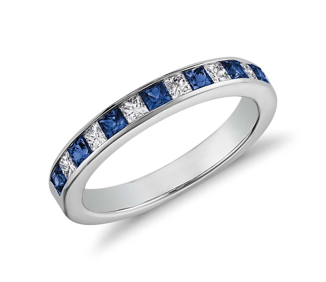 Sapphire And Opal Eternity Ring