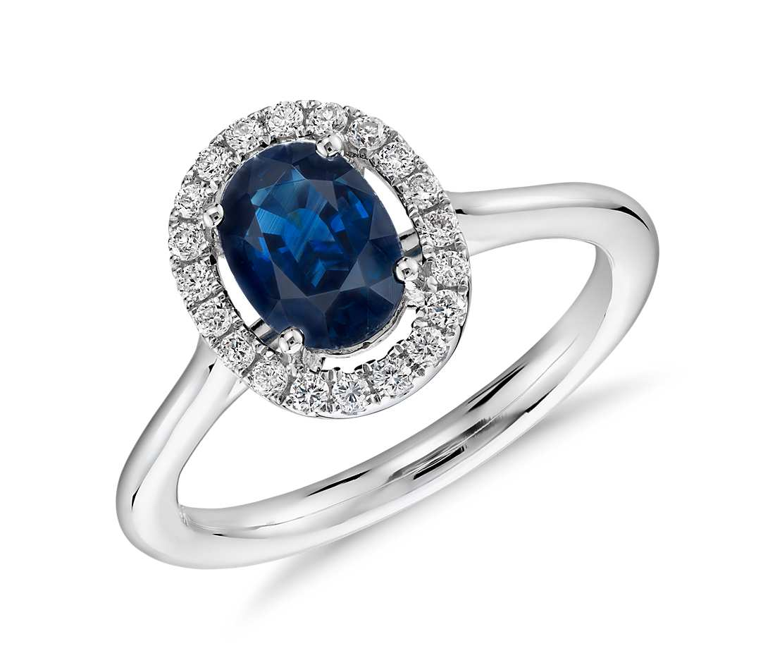 ring cut sapphire gold band princess diamond tq and white