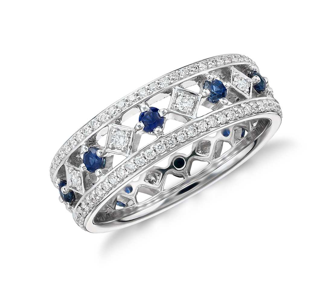 central ring flower and of classic a diamond sapphire kozminsky corn oval consisting cluster