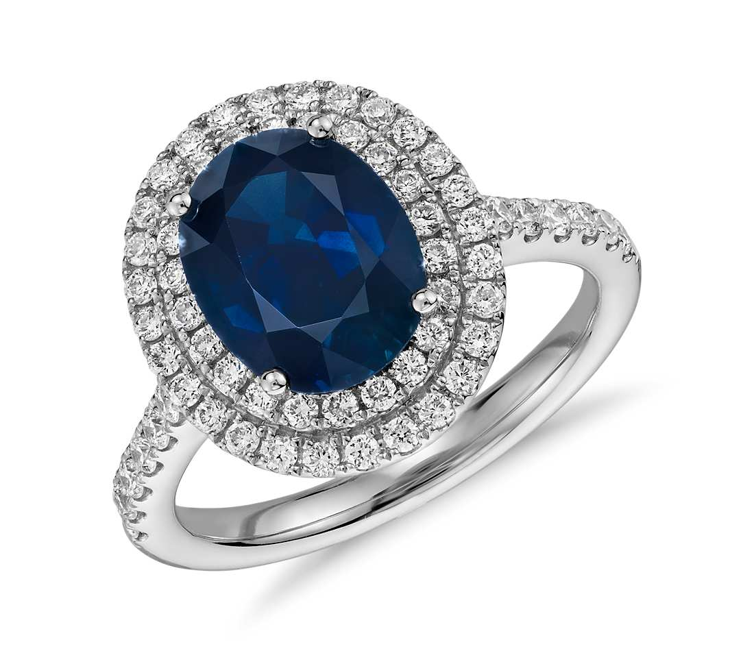 image diamond engagement and product sapphire gold gemstone paragon blue si ring white boutique h