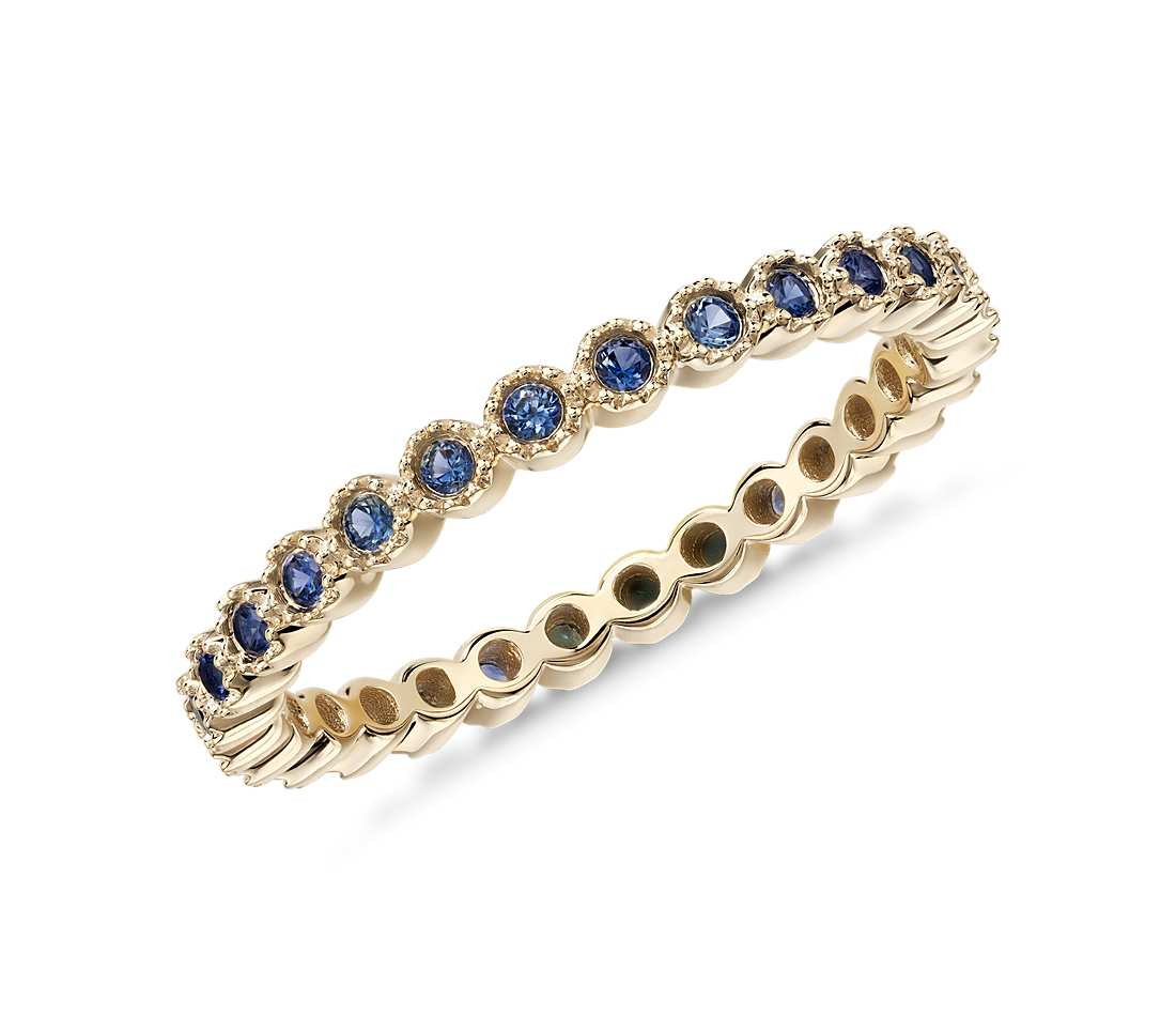sapphire eternity ring in 18k yellow gold tanary jewelry. Black Bedroom Furniture Sets. Home Design Ideas