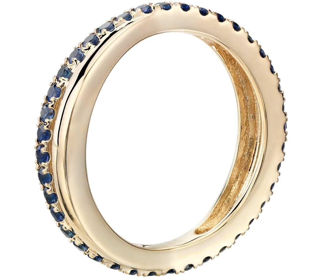 sapphire infinity eternity ring in 18k yellow gold. Black Bedroom Furniture Sets. Home Design Ideas