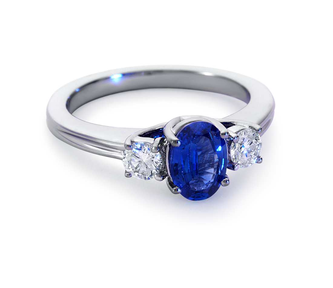 unique ring knot rings nautical engagement sapphire white diamond gold love
