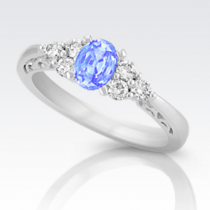 natural vivid three ring sapphire ice products classic blue